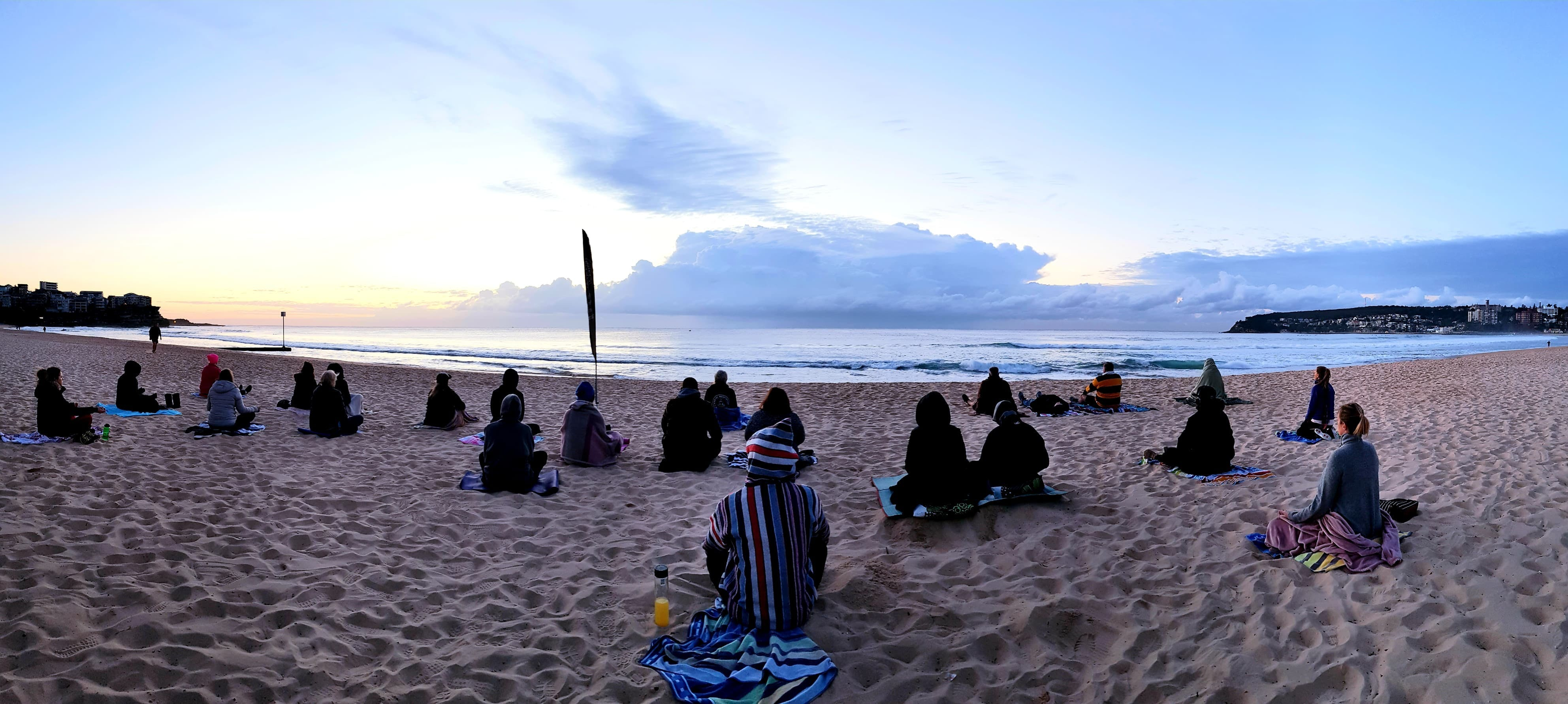 Making Meditation Mainstream Free Beach Meditation Session Mooloolaba - QLD Tourism