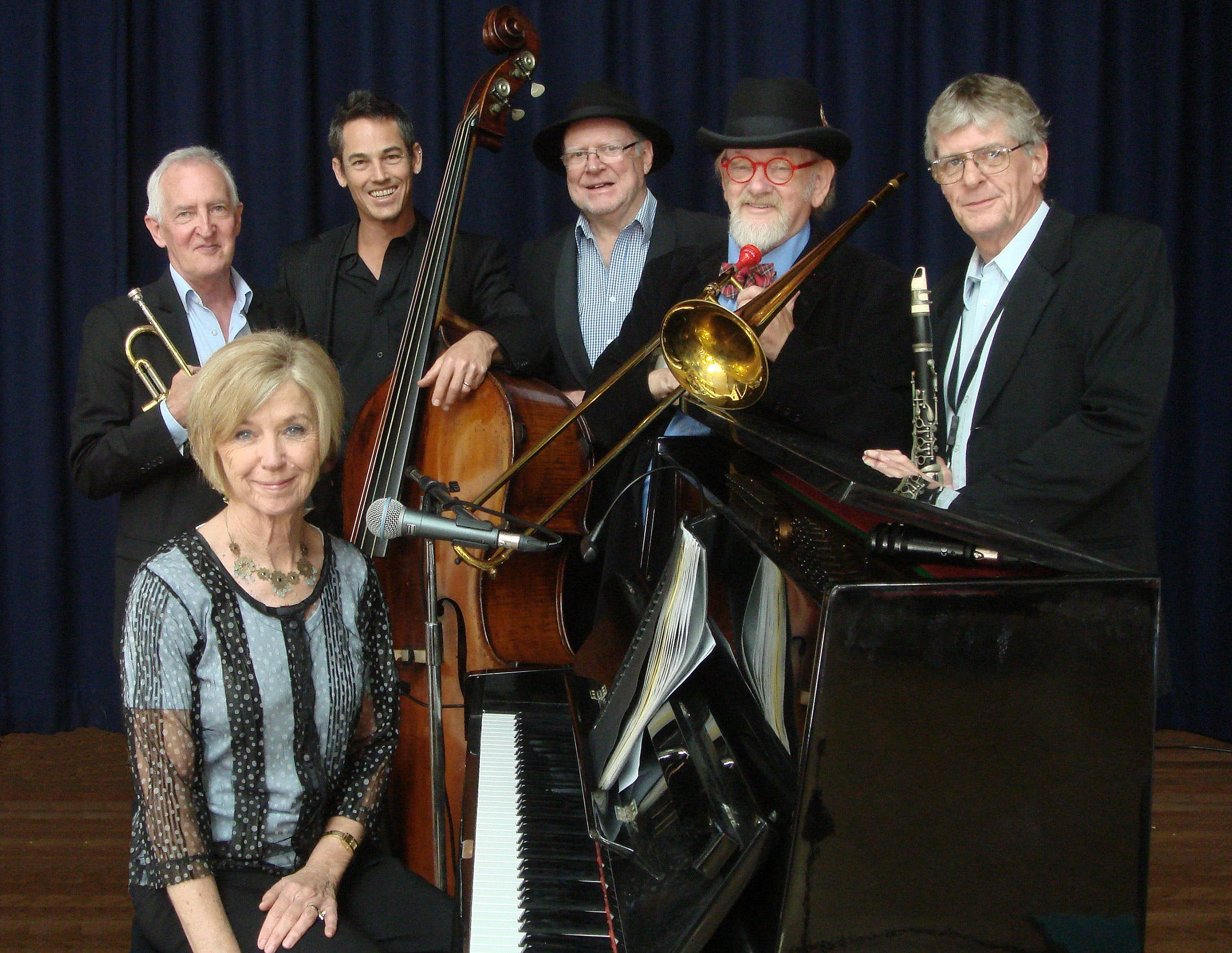 The Caxton Street Jazz Band in the Swigmore Hall at Robert Channon Wines - QLD Tourism